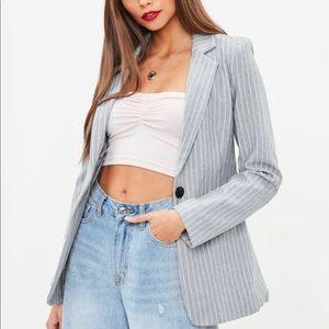 Missguided pinstripe blazer NWOT